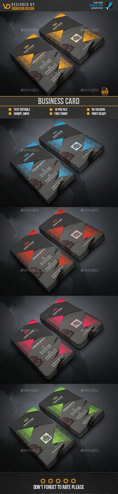 Business Card  — PSD Template #flyer #photography • Download ➝ https://graphicriver.net/item/business-card/18066930?ref=pxcr