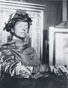 Photo of Marguerite Khnopff Freson, sister of and frequent model for artist Fernand Khnopff
