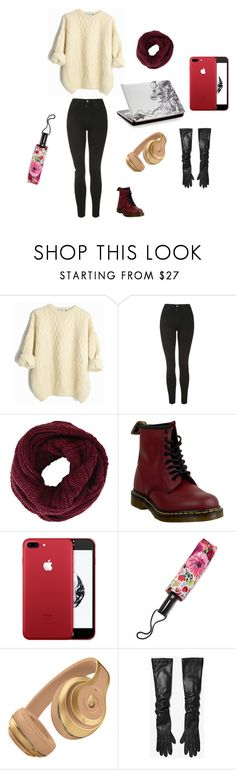 """""""Cold/Chilly Day ready for vote"""" by renee-pea on Polyvore featuring Topshop, BCBGMAXAZRIA, Dr. Martens, Kate Spade and Michael Kors"""