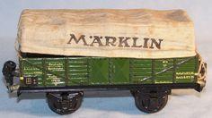 Märklin 17610 offener Güterwagen mit Verdeck, Spur 0, 30er (33174)