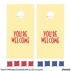 Add some friendly fun to the BBQs, tailgates, and outdoor activities with cornhole sets from Zazzle. Design your own boards and choose from various colored bean bags to create the perfect cornhole set. Cornhole Set, Cornhole Boards, Outdoor Activities, Welcome, Ads, Field Day Activities
