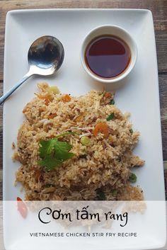 Com Tam Rang - Quick and easy  Vietnamese fried rice recipe