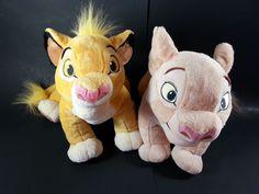 Disney Store Authentic Lion King Nala And Simba Plush Stuffed Animal LOT Of 2  #Disney
