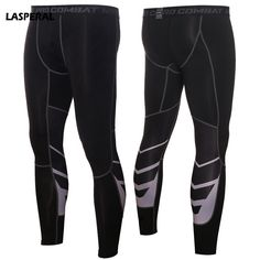 LASPERAL Workout Sports Men s Running Tight Compression Patchwork Leggings  Full Length High Elastic Bodybuilding Fitness Pants 0ad92de7f5a