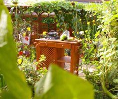 Mobile Vintage Garten-Kochinsel – Mobile vintage garden-kitchen-island