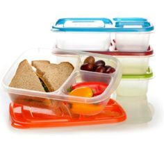3-Compartment Lunch Containers (4-Pack) - $13.95!!