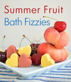 Summer Fruit Bath Fizzies - The Natural Beauty Workshop