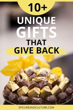 Looking for unique gifts that give back to charity? Here is 10+ great gifts that also give back to those in need. // #GiftIdeas #GiveBack #Charity #HolidayGifts Chocolate Covered Espresso Beans, Chocolate Covered Pretzels, Unique Presents, Unique Gifts, Best Gifts, Responsible Travel, Sustainable Tourism, Restaurant Guide, Packing Light