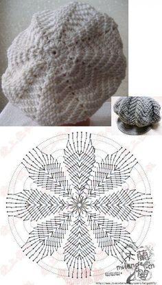 Crochet Beret Pattern, Bonnet Crochet, Easy Crochet Hat, Crochet Kids Hats, Crochet Beanie Hat, Crochet Cap, Crochet Stitches Patterns, Crochet Scarves, Crochet Motif