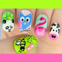 The Cutest Animal Nail Art 2014