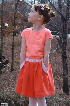 Sewing Like Mad: self-drafted skirt