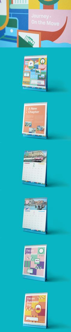 Swire Travel Calendar 2017 - We designed a new year calendar for Swire Travel based on the theme of worldwide means of transportation provided by client. The geometric illustration symbolised the different means of transportation around the world.
