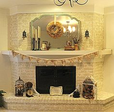 cottage instincts - how to paint a fireplace. http://cottageinstincts.blogspot.com/2013/04/about-that-fireplace.html