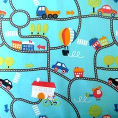 Stof auto (blauw)