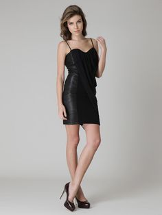 cute leather panel dress, by Alice + Olivia