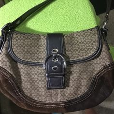 Coach purse Light brown and brown ! Unused and very cute ! Coach Bags