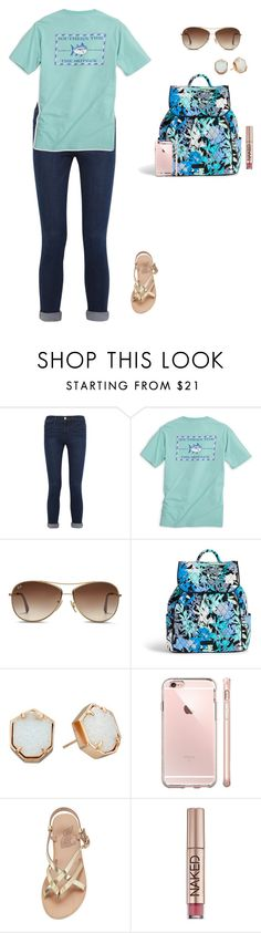 """moose or swan?"" by jackelinhernandez ❤ liked on Polyvore featuring Frame Denim, Southern Tide, Ray-Ban, Vera Bradley, Kendra Scott, Ancient Greek Sandals and Urban Decay"
