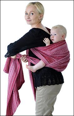 Great photo instructions of different carries, baby wearing, wrap