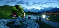 Swarovski Crystal Worlds - Wattens, Austria You need a LOT of money to visit the largest Swarovski store worldwide! So maybe consider the park outside Crystal World, where you'll experience a puzzling Labyrinth shaped like a human hand.