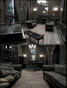 gothic architecture began at the Dark Home Decor, Gothic Home Decor, Bric À Brac, Gothic Interior, Goth Home, Dark Interiors, Gothic House, To Infinity And Beyond, Interior Design Living Room
