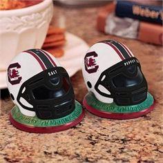 South Carolina Gamecocks Ceramic Helmet Salt and Pepper Shakers