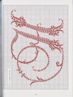 Punto croce - Schemi Gratis e Tutorial: Monogrammi eleganti