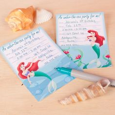 Free Printable from Disney - Ariel's Under-the-Sea Party invite!  Perfect for a Mermaid Swim Birthday Party