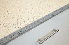#GEOS Recycled Glass Surface in Ocean Shell, pale blues flecked with natural shells...gorgeous!