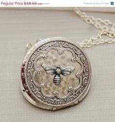 Vintage Silver Lockets for Sale | French Bee~ on Pinterest | Bees, Queen Bees and Vintage Bee