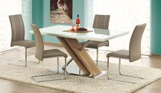 Best Garden Decorations Tips and Tricks You Need to Know - Modern Glass Dining Table, Dining Chairs, Sonoma Oak, Table Design, Wall Molding, Modern Table, Diy Garden Decor, House, Furniture