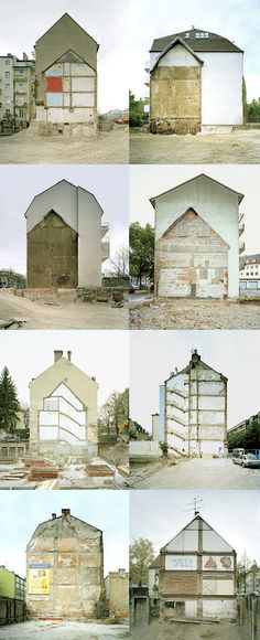 Architecture as Palimpsest // layers scraped away and redrawn Building Structure, Building Materials, Rachel Whiteread, Ghost House, Adaptive Reuse, Urban Architecture, Built Environment, Urban Landscape, Abandoned Places