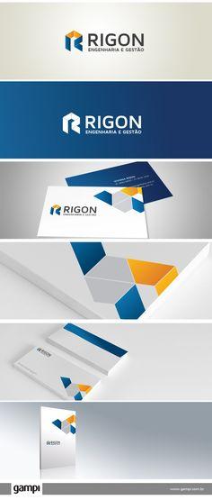 Identidade Visual Riggon Engenharia e Gestão. #Design #Logotype