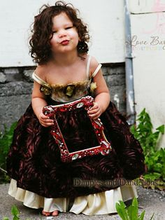 beautiful--special occasion dress  2T-6T  Dimples and Dandelions