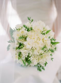 Classic Ivory Bouquet with Greenery Freesia Wedding Bouquet, Bride Bouquets, Bridesmaid Bouquet, Bridesmaids, Wedding Flower Guide, White Wedding Flowers, Floral Wedding, Wedding Ideas, Fall Wedding
