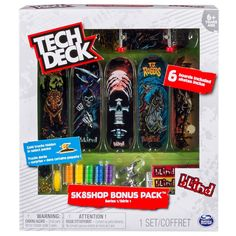 Tech Deck Bonus Pack (styles vary) Continue to the product at the image link. (This is an affiliate link) Tech Deck, Finger Skate, Real Skate, Football Roster, Street League, Virginia Tech Football, Deck Cost, Skateboard Companies, 7 Year Olds