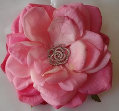 Bridal Hair Wedding Hair Pink Rose Fascinator by lovelygifts