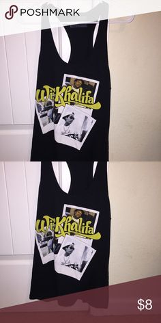 wiz khalifa tank top wiz khalifa tank top, black, size large Tops Tank Tops