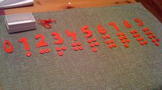 DIY numerals and counters