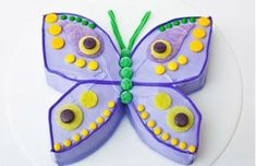 Sweet! How to make a butterfly birthday cake with gumdrops. Easy, step-by-step recipe, diagrams and pictures