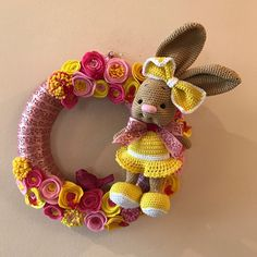 Bunny Easter Wreath. Looking for new forever home. Use coupon code BIRTHDAYGIRL to get 40% off. Minimum purchase 40€. Valid till March 7th. 2017. Please check my other items also.