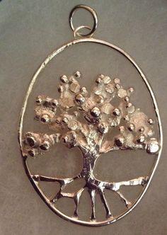 Eco Silver (925) Oak Tree Pendant Tree Pendant, Oak Tree, Anniversary Gifts, Hoop Earrings, Silver, Jewelry, Birthday Presents, Jewlery, Wedding Anniversary Gifts