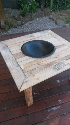 Picture of Outdoor fire pit on a table