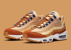 Nike Recolors Its Specification-Marked Air Max 95 With Fall Palettes Air Max 95, Nike Air Max, Air Jordan 4 Bred, Air Max Sneakers, Sneakers Nike, Dark Shades, Camouflage, Air Jordans, Hypebeast