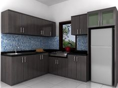 Show your avant-garde style through your minimalist kitchen. Its functional minimalist kitchen set come in varied materials and designs. Kitchen Cupboard Designs, Kitchen Room Design, Modern Kitchen Design, Living Room Kitchen, Home Decor Kitchen, Interior Design Kitchen, Home Kitchens, Kitchen Ideas, Interior Ideas