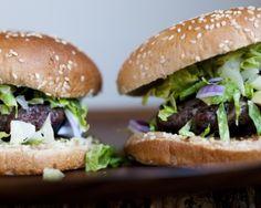 Healthy Bison Burgers - LOVE!!!