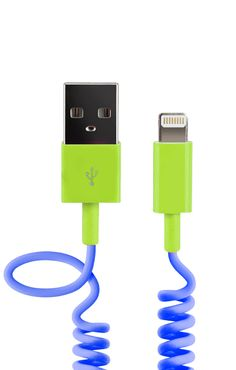 Colorful USB cable supports charging and data syncing for devices with Lightning ports, such as iPhone 6, iPad Air, and iPod nano 7th Gen
