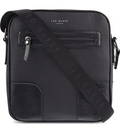 TED BAKER Embossed leather flight bag