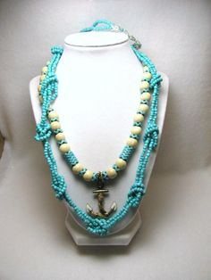 Nautical Knots & Anchor - Jewelry creation by Linda Foust