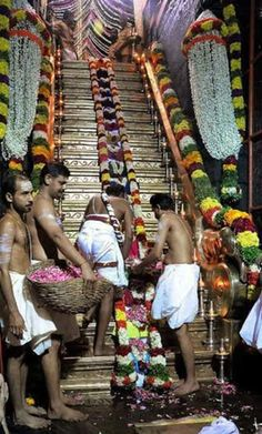 18 holi steps of Shabarimala temple, Kerala, India. The temple is dedicated to Lord Ayyapa who is beleived to be born of Lord Shiva and Lord Vishnu (in his Mohini avatar)...