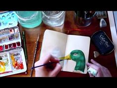 Speed Painting - Sketchbook Journal Pages, and a duck :-)